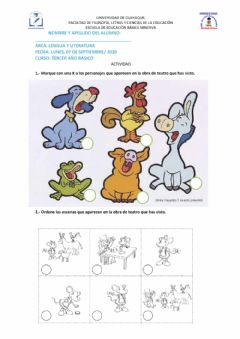 Interactive worksheet Lectura compresiva