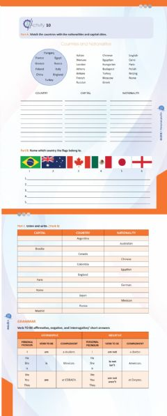 Interactive worksheet Countries, capitals and nationalities