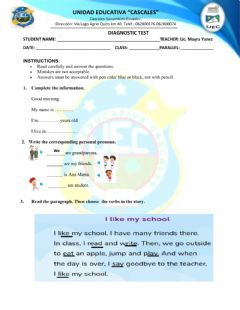 Interactive worksheet Diagnostic test