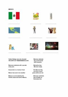 Interactive worksheet Mexican Independence Day