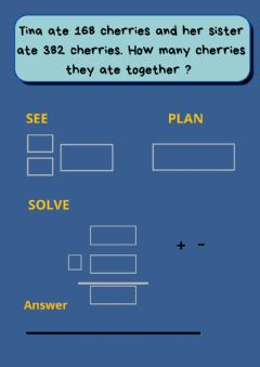 Interactive worksheet Solving problems addition