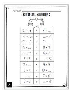 Ficha interactiva Balancing Equations
