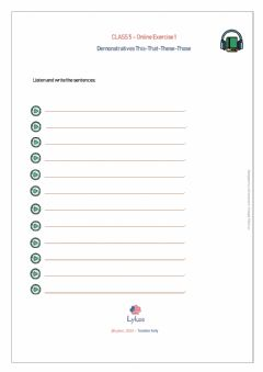 Interactive worksheet Demonstratives This-That-These-Those