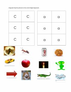 Ficha interactiva Letter sound match a and c