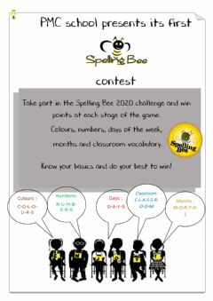 Interactive worksheet Poster Spelling Bee contest