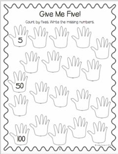 Interactive worksheet Count by 5's