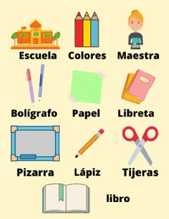 Interactive worksheet Evaluación Vocabulario escuela