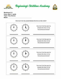 Interactive worksheet Time review