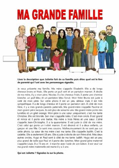 Interactive worksheet Ma grande famille