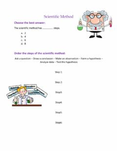 Interactive worksheet Scientific Methods