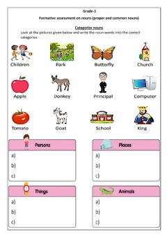 Interactive worksheet FA- Nouns (Group 2)