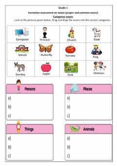 Interactive worksheet FA- Nouns (Group 1) edited