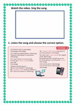 Interactive worksheet Rooftops unit 5 song