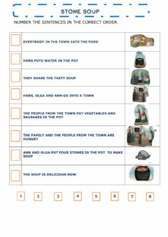 Interactive worksheet Stone soup