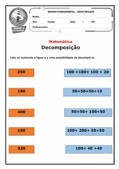 Interactive worksheet Decomposição