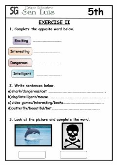 Interactive worksheet Comparative (two syllables)
