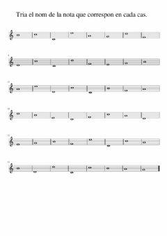 Interactive worksheet Nom de les notes musicals