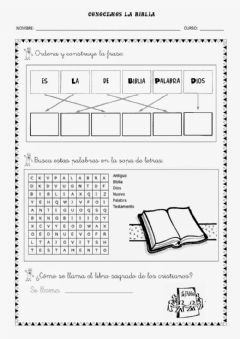 Interactive worksheet Conocemos la Biblia