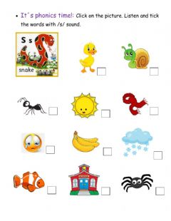 Ficha interactiva Jolly Phonics s