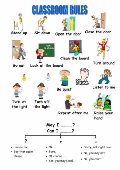 Interactive worksheet Classroom lrules