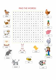 Ficha interactiva Word search