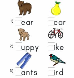 Interactive worksheet letter b and p sound
