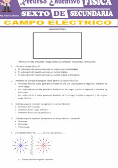 Interactive worksheet Carga electrica