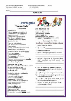 Interactive worksheet Trem bala