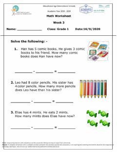 Interactive worksheet Math live worksheet add and subtract Wed 16 Sep 2020