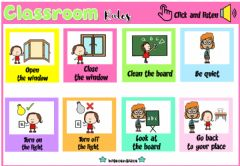 Interactive worksheet Classroom Rules (Audio Dictionary)