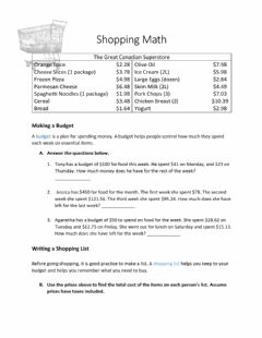 Interactive worksheet Money Math
