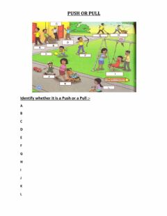 Interactive worksheet Push and pull