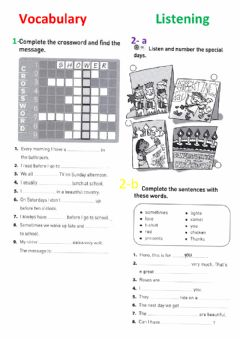 Interactive worksheet Present simple-routines-special days