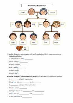 Interactive worksheet Family and possessive 's