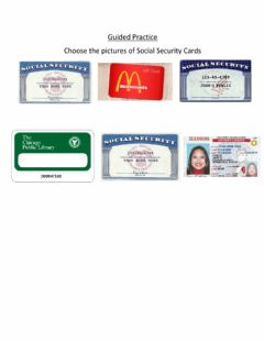 Ficha interactiva Guided Practice: Social Security Cards