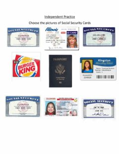 Ficha interactiva Independent Practice: Social Security Cards