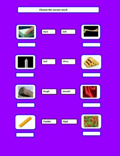 Interactive worksheet Matter&material