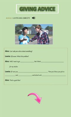 Interactive worksheet GIVING ADVICE - 6to