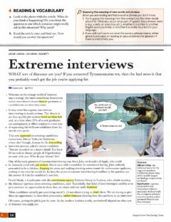 Interactive worksheet Extreme Interviews UNIT 1A Upper Intermediate English File