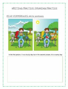 Interactive worksheet Writing practice