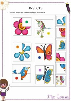 Interactive worksheet Insects