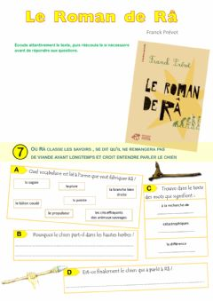 Interactive worksheet Le Roman de Râ - épisode 7