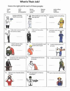 Interactive worksheet What Are Their Jobs?