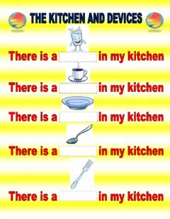 Interactive worksheet The Kitchen Devices