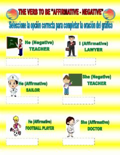Interactive worksheet The Verb to Be Affirmative Negative