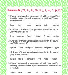 Ficha interactiva Phonetics 6