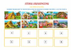 Interactive worksheet Story Sequencing