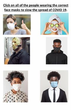 Interactive worksheet Wearing the correct type of mask