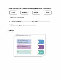 Interactive worksheet Truthfulness