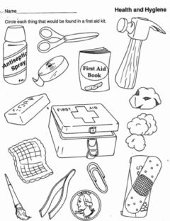 Interactive worksheet What Can Be Found in a 1st Aid Kit